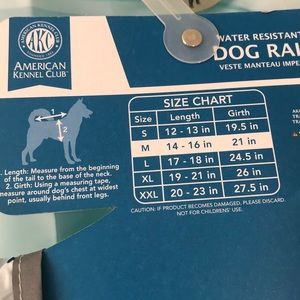 AMERICAN KENNEL CLUB Other - AKC dog rain coat ☔️